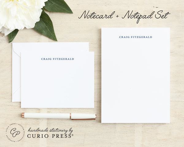 Simplicity: Flat Card + Notepad Set