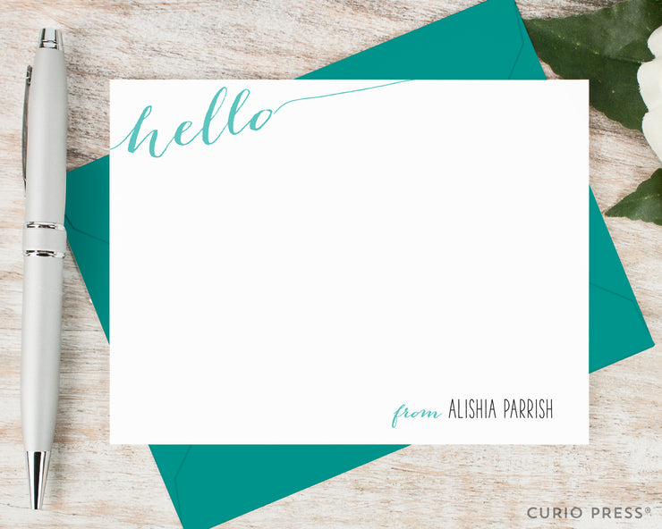 Slanted Hello: Flat Card Set