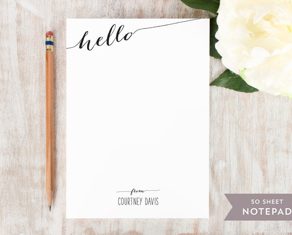 Slanted Hello: Notepad