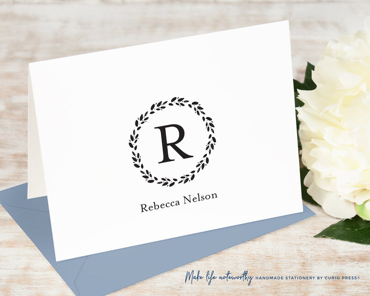 Refined Monogram: Folded Card Set