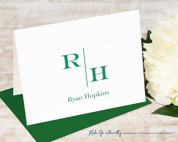 Split Monogram: Folded Card Set