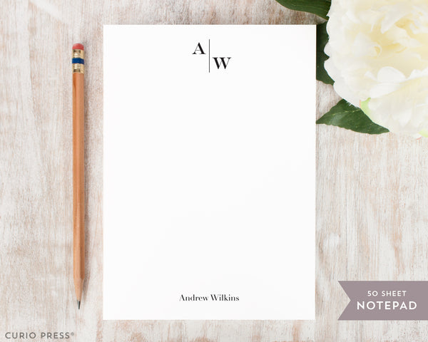 Split Monogram: Notepad