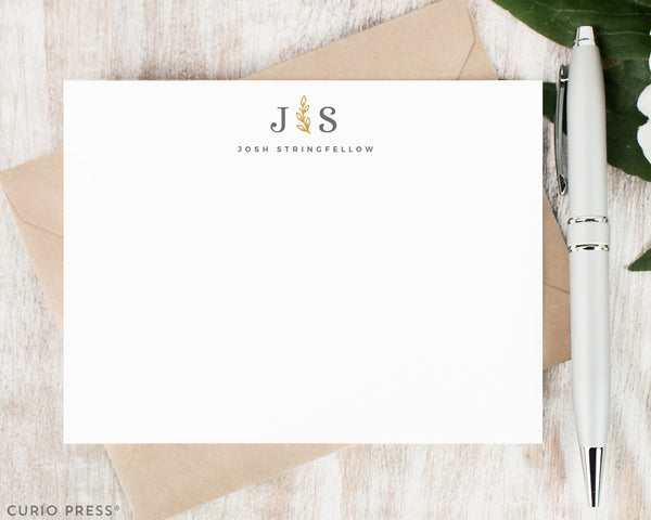 Sprig Monogram: Flat Card Set