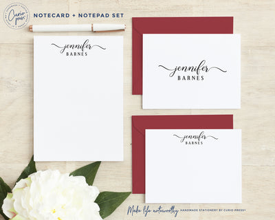 Rosie Stacked 3-Piece Set: Folded + Flat + Notepad Set