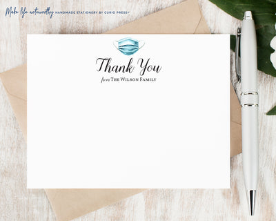 Surgical Mask Thank You: Flat Card Set