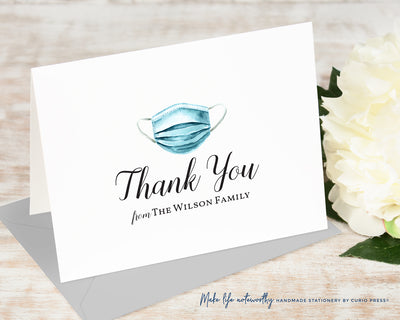 Surgical Mask Thank You: Folded Card Set