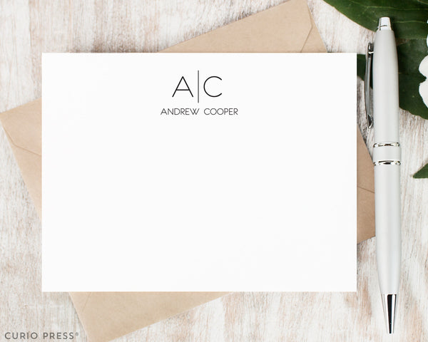 Thin Line Monogram: Flat Card Set