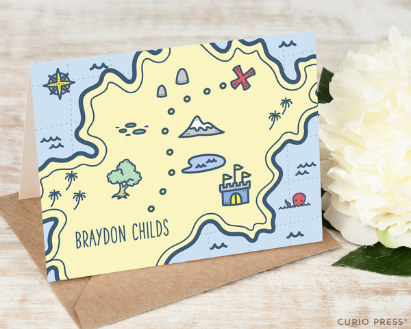 Treasure Map: Folded Card Set