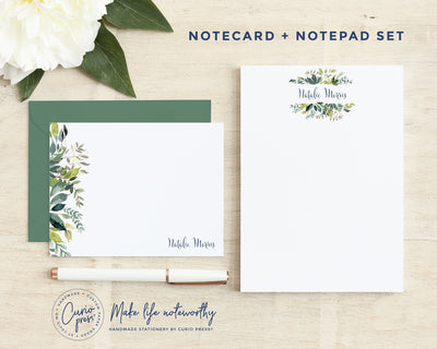Verdant: Flat Card + Notepad Set