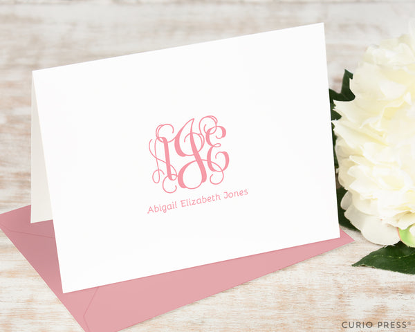 Vine Monogram: Folded Card Set