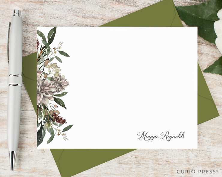 Winter Floral: Flat Card Set