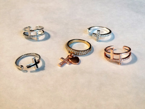 Rings: Cross Rings (Various Styles)