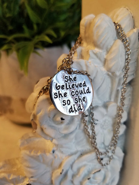 "Necklace: ""She Believed She Could"""