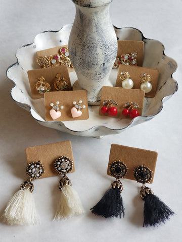 Earrings:  (Various Styles)