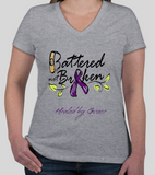 Domestic Violence Awareness (Survivor) T-Shirt Ladies Fit V-Neck