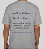 Domestic Violence Awareness (Survivor) T-Shirt- Unisex (Grey & Purple )