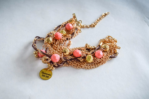 Saving Grace Collection: Bracelet- Bohemia Style Gold Plated Multi-Layer Beaded