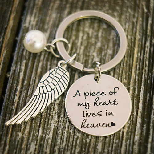 Key Chain: A Piece of my Heart Lives in Heaven