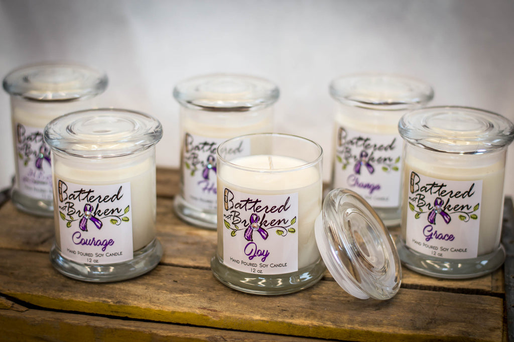 Shine a Light on Domestic Violence w/ our Inspirational Soy Candles!