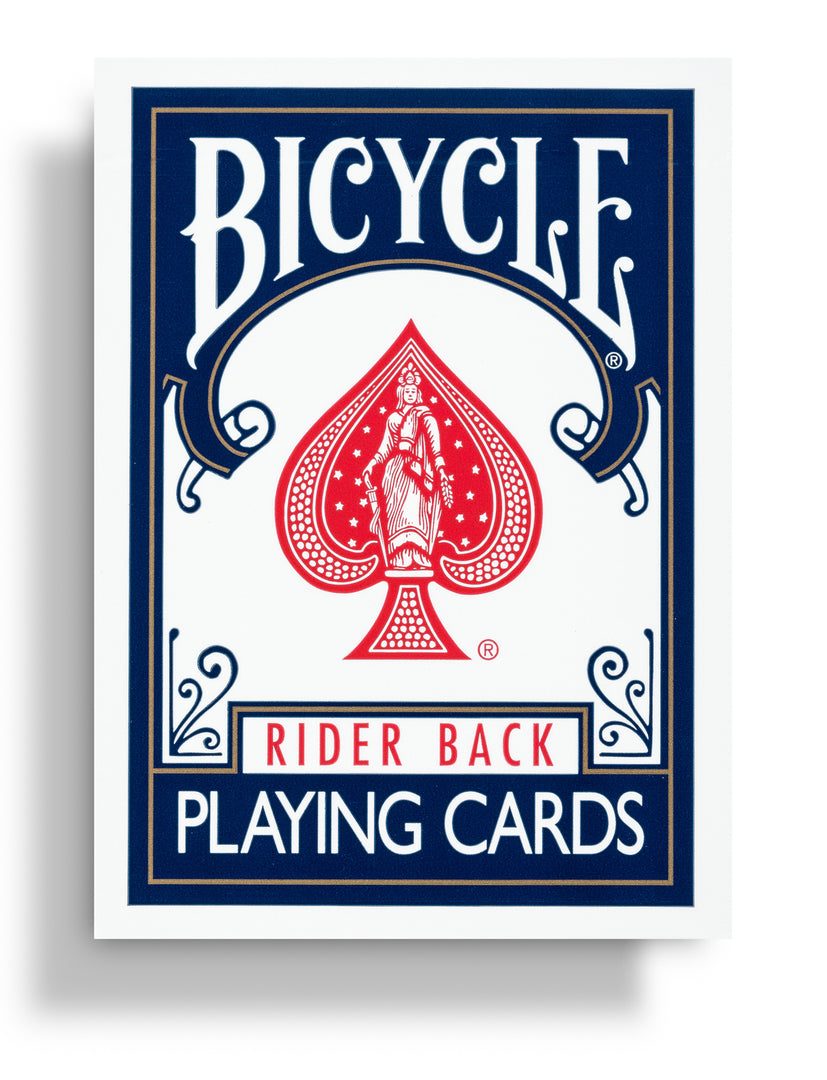 Bicycle Rider Back: Blue