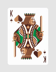 DKNG Green Wheel by Art of Play Playing Cards King of Spades