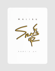 "Malibu V2 Playing Cards Ad Card ""Surf's Up"""