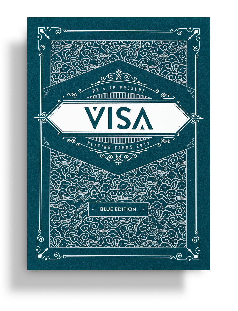 VISA Playing Cards: Blue