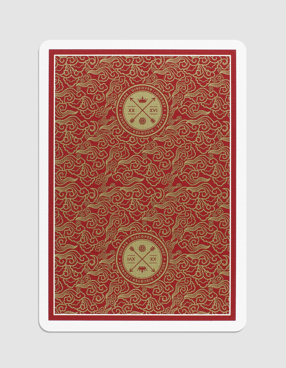 VISA Playing Cards: Red