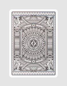 Black Hudson Playing Cards Back Design