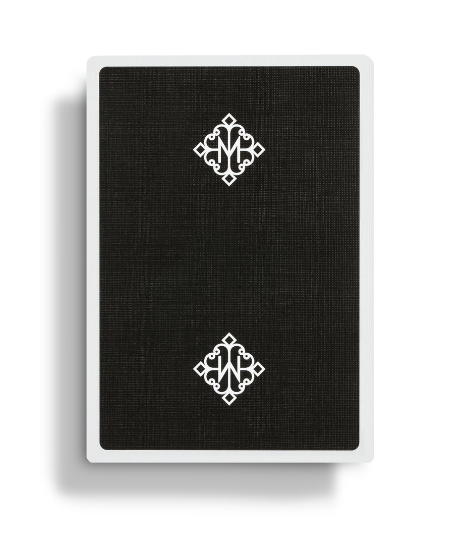 Black Rounders Playing Cards by Daniel Madison and Ellusionist Back