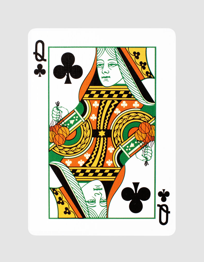 Squeezers Playing Cards Front Design Queen of Clubs