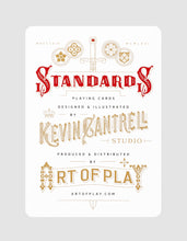 Standards Playing Cards Black by Art of Play Designer Card