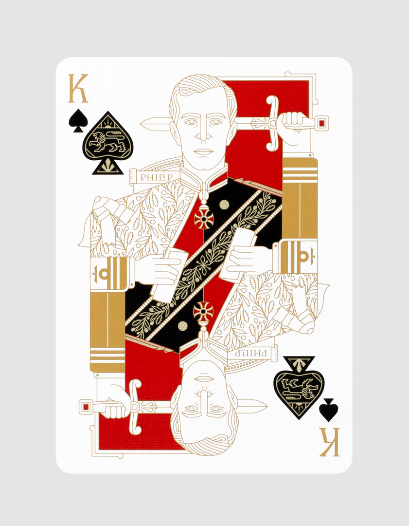 Standards Playing Cards Black by Art of Play King of Spades