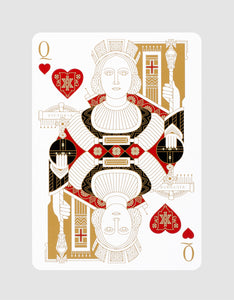 Standards Playing Cards Black by Art of Play Queen of Hearts