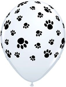 Paw Prints on White Balloon