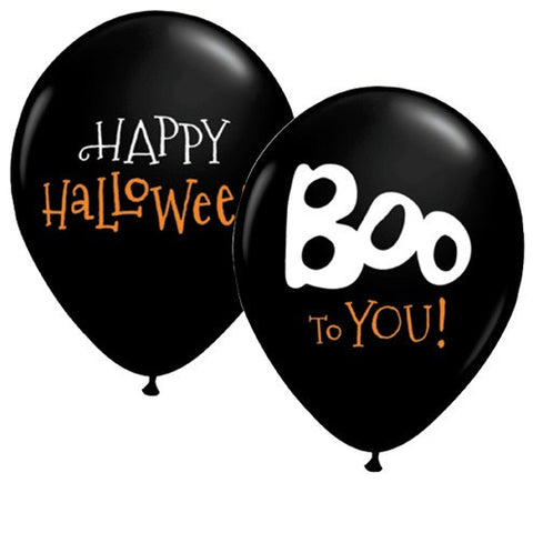 11 Inch Boo To You Halloween Latex Balloons