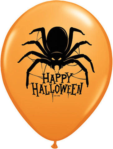 11 Inch Halloween Spider Latex Balloon