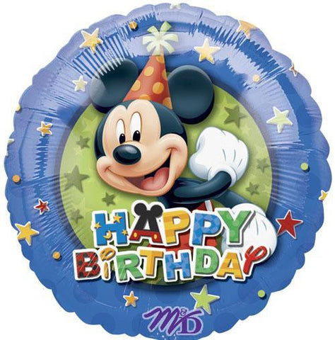 Mickey Stars Birthday Balloon