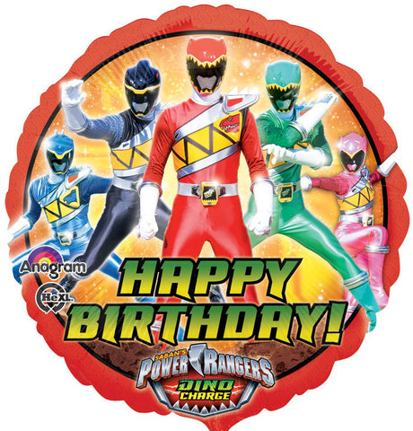 Power Rangers Dino Charge Birthday Balloon