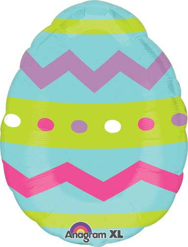 Easter Egg Striped Chevrons Junior Shape