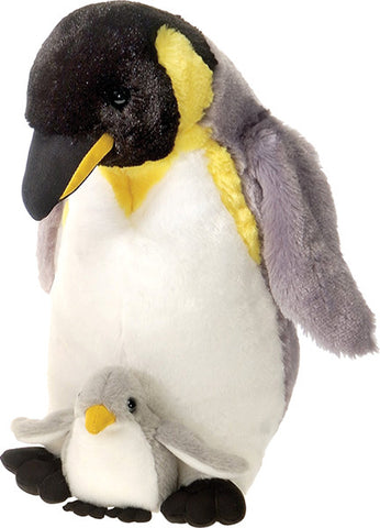 12 Inch Mother & Baby Plush Penguin