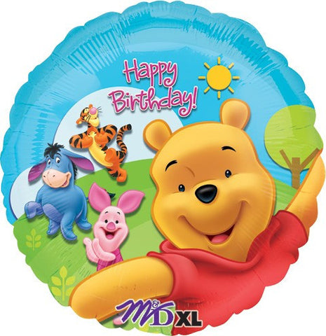 Birthday Pooh and Friends Balloon