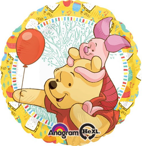 Birthday Pooh and Piglet Balloon