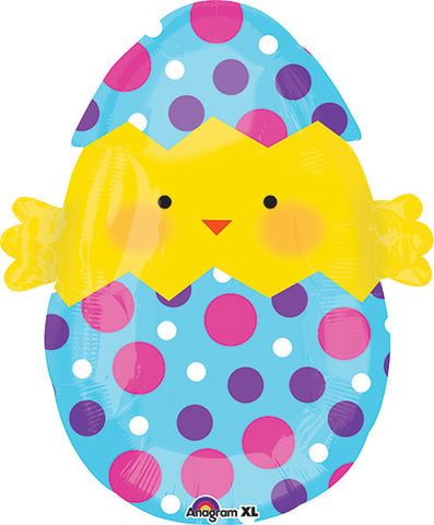 20 Inch Easter Chick Egg Jr Shape Balloon