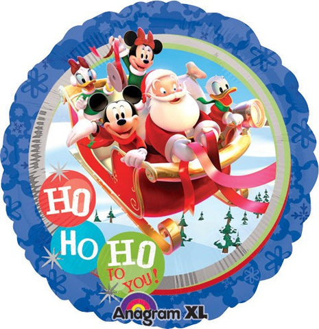 Mickey Gang and Santa Balloon