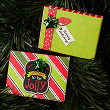 HOLIDAY JOLLY FLIP TOP GIFT CARD PRESENTATION BOXES