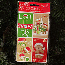 LET IT SNOW HOLIDAY GIFT TAGS