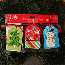 HOLIDAY STRUNG GLITTER GIFT TAGS