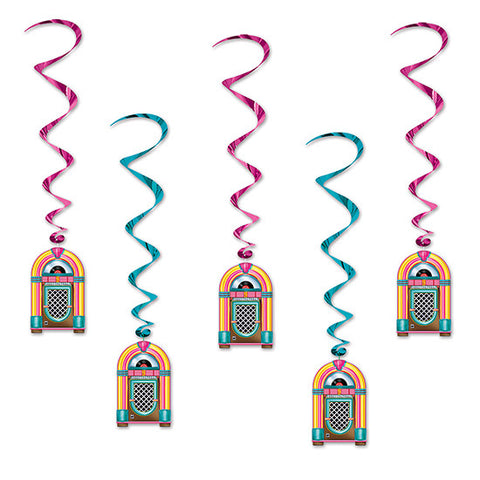 Jukebox Whirl Decorations