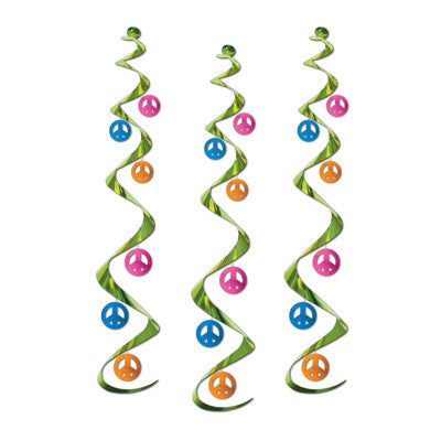 Peace Sign Whirls Decoration